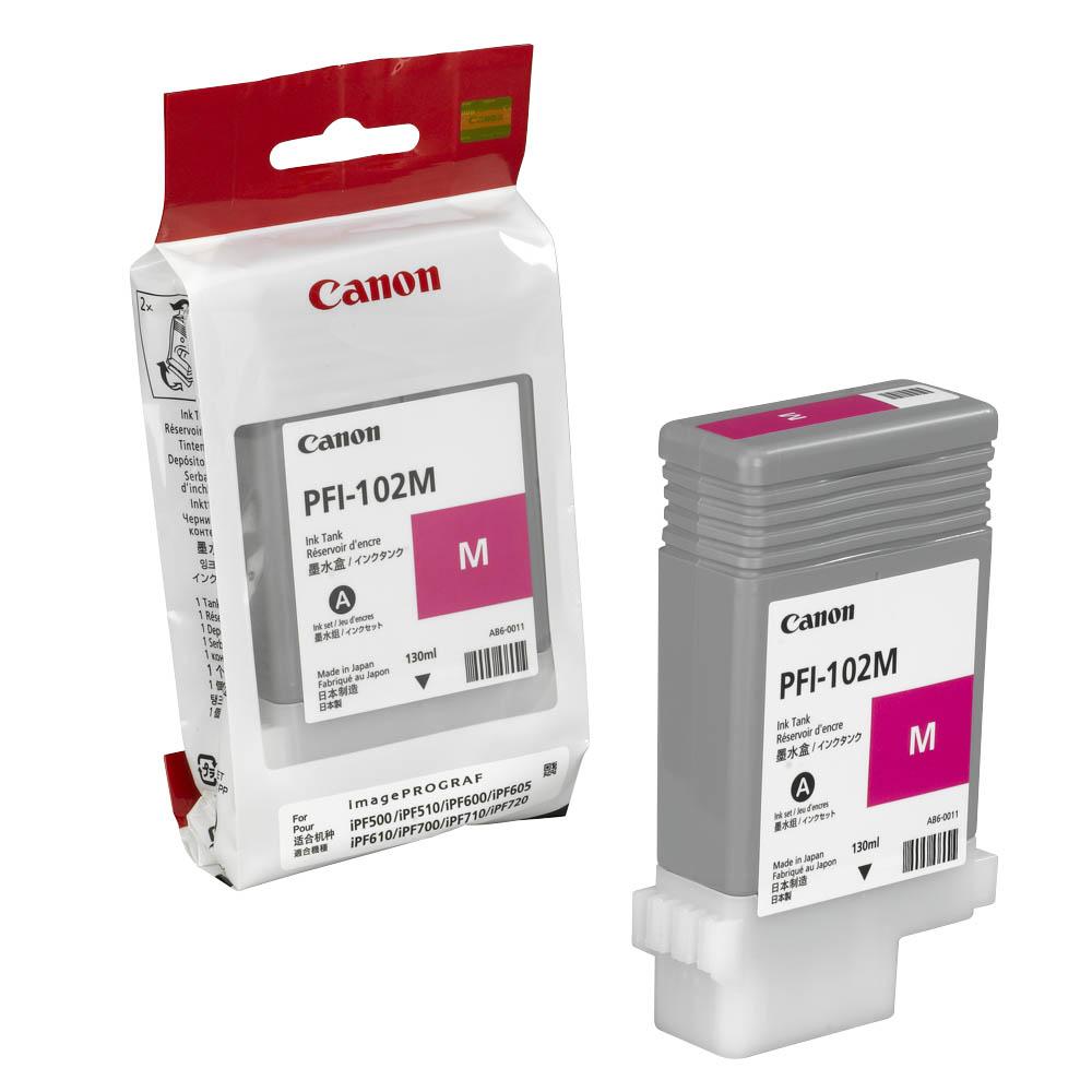 Картридж струйный Canon PFI-102 M, purple 0897B001