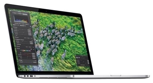 Apple MacBook Pro 15 with Retina display Mid 2015 (Z0RF0004H) - (Intel Core i7 2500 МГц. Экран 15.4 дюймов, 2880x1800, широкоформатный TFT IPS. ОЗУ 16 Гб DDR3L 1600 МГц. Накопители SSD 256 Гб; DVD нет. GPU Intel Iris Pro Graphics 5200. ОС MacOS X)