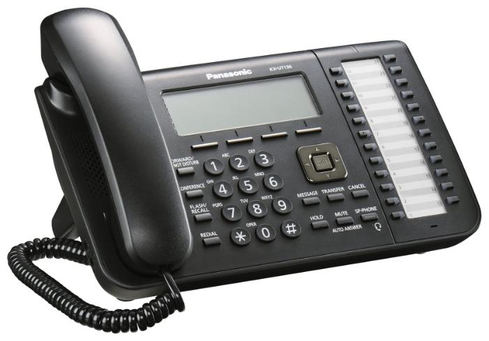 VoIP-телефон Panasonic KX-UT136RU-B, WAN, LAN, есть определитель номера