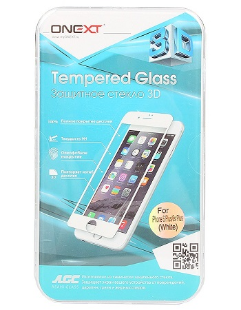 Onext 41004 для Apple iPhone 6/6s Plus 3D белое
