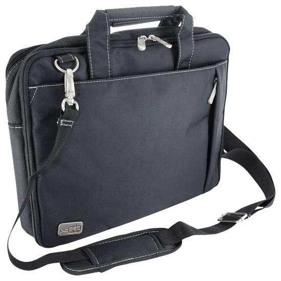 """PC PET PCP-W6714 Black - (сумка; под диагональ экрана 14.1""""; синтетический (нейлон); защита от воды. Цвет черный. • Отделения:, внешн. есть, органайзер есть.)"""