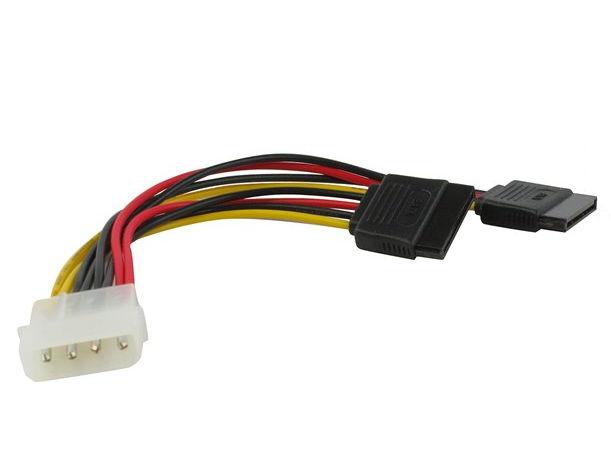 Кабель-переходник VCom VPW7572 (Molex - 2x Power SATA)