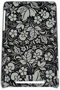 "E-cell FLORAL BLACK+WHITE PROTECTIVE для ASUS - (для LG K430ds/K410 K10 LTE/K10; 7""; пластик, резинка)"