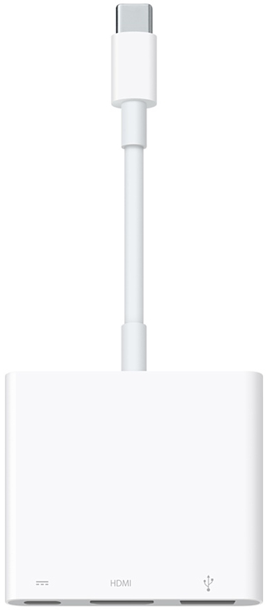 Переходник Apple USB-C to Digital AV Multiport Adapter (MJ1K2ZM/A).white