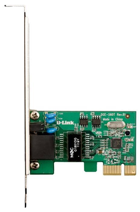 Сетевая карта D-Link DGE-560T/B1B Managed Gigabit PCI-Express NIC (OEM) - PCI-E, 10/100/1000 Мбит/с