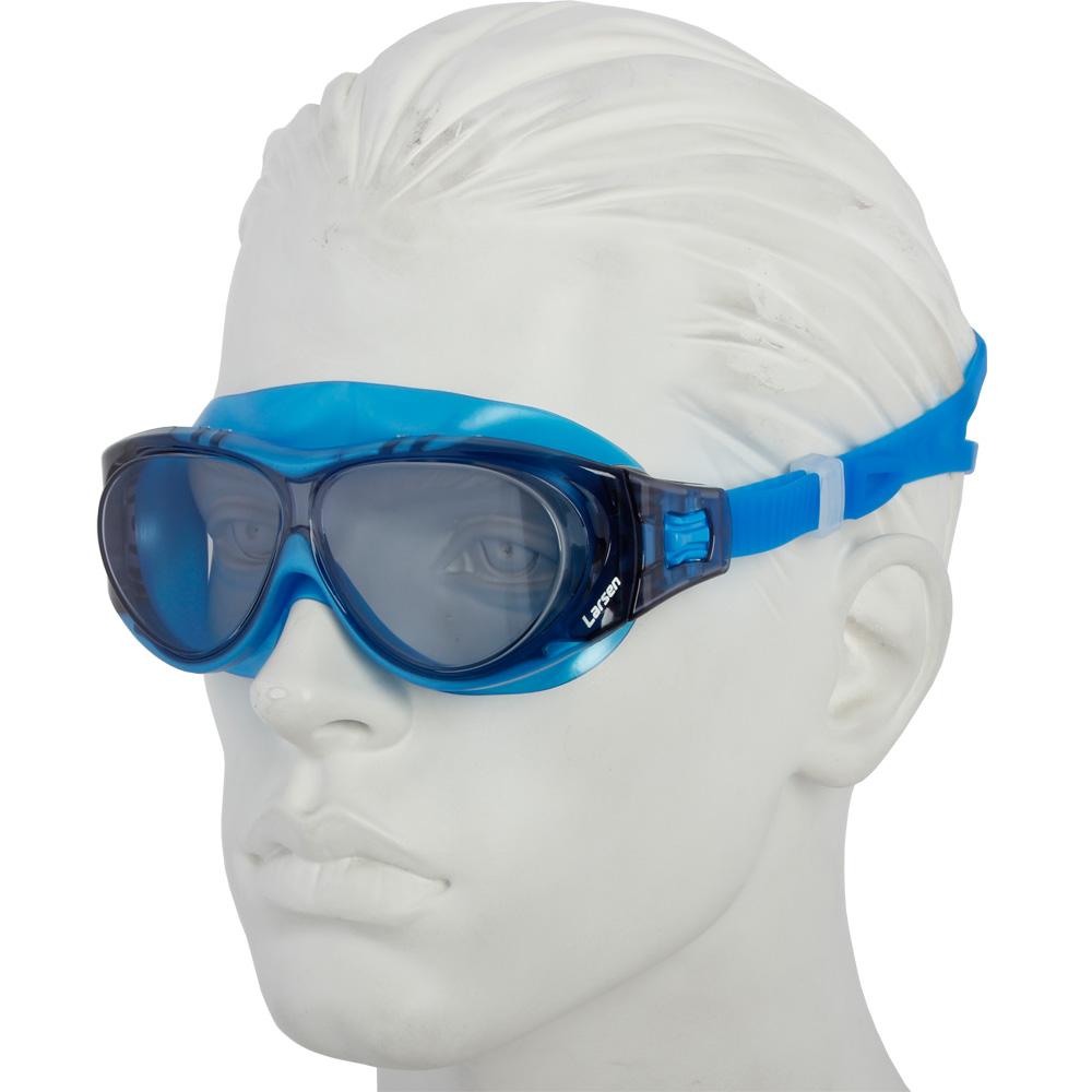 Очки плавательные Larsen DK6 синий (ТРЕ)
