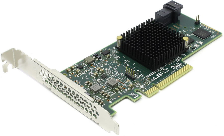 Контроллер LSI Logic SAS 9300-4i (LSI00346)