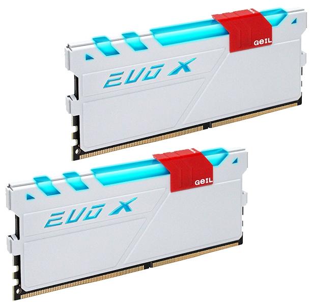 Оперативная память GeIL EVO X GEXW48GB2133C15DC (DDR4 UDIMM 2x 4Gb, 2133MHz, CL15-15-15-36), White
