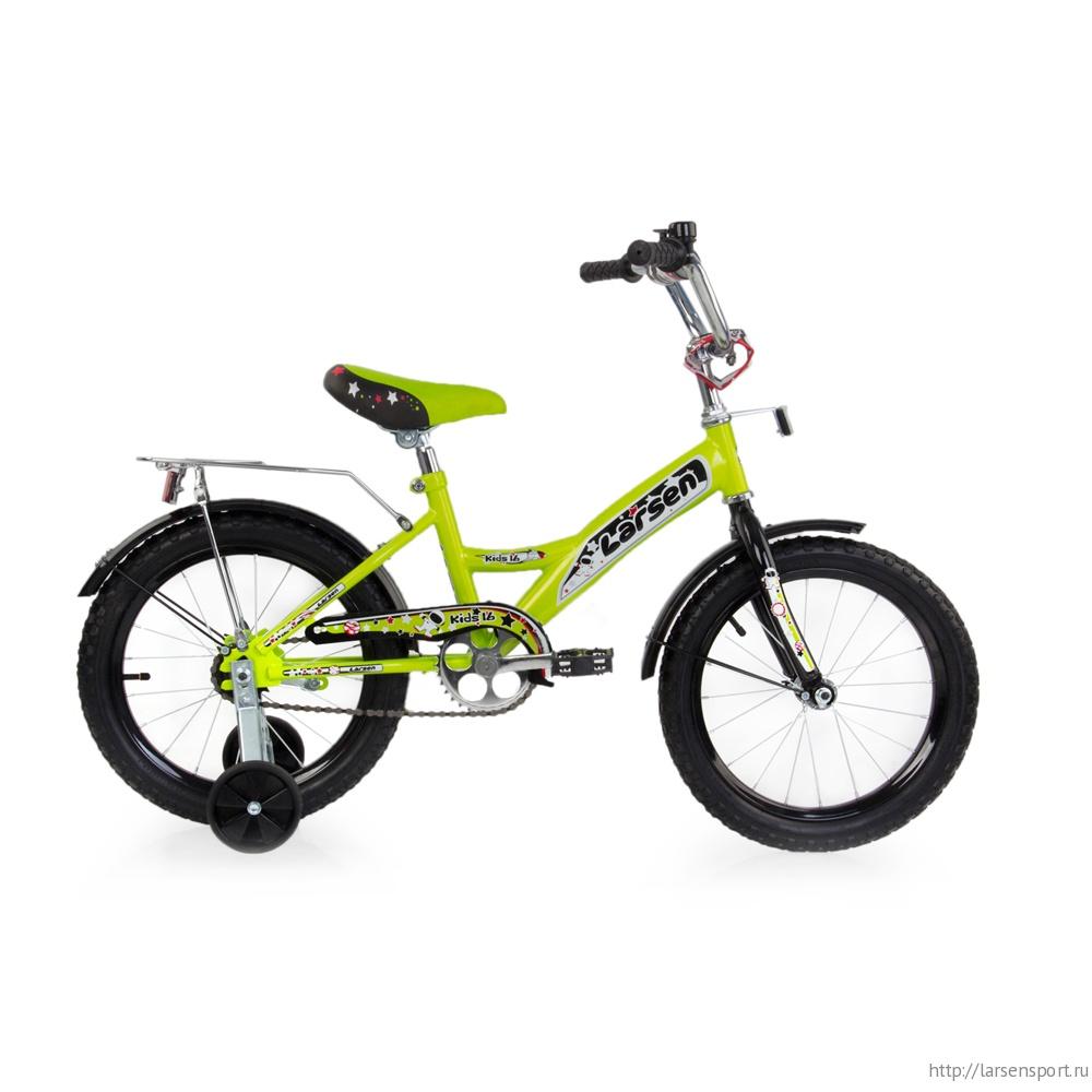 """Велосипед Larsen kids 16"""" (16,16"""") Чёрный/красный"""