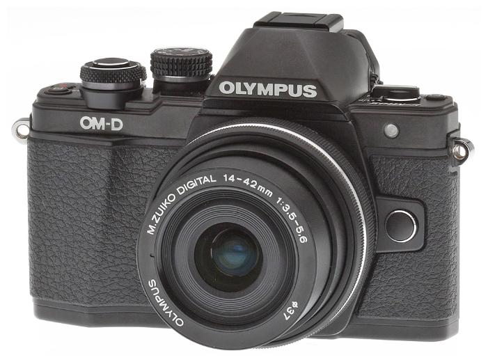 Olympus OM-D E-M10 Mark II Kit (14-42 mm II R), black - (17.2 млн, 1920x1080, 8.5 кадр./сек, ЖК-экран: поворотный, сенсорный, 1037000 точек, 3 дюйма)