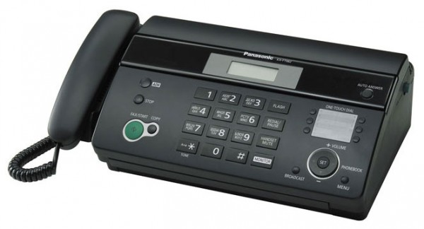 Факс Panasonic KX-FT982RUB Black, рулон, A4