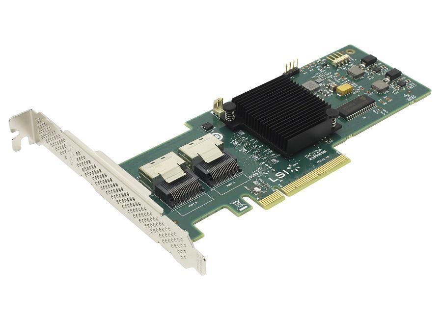 LSI Logic MegaRAID 9240-8i (SAS / SATA), OEM - SAS / SATA RAID-контроллер (RAID 0, 1, 10, 5, 50, JBOD); PCI-Express 8x rev.2.0 (обратно