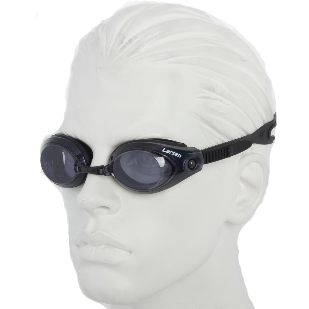 Очки плавательные Larsen R42 черный (силикон)