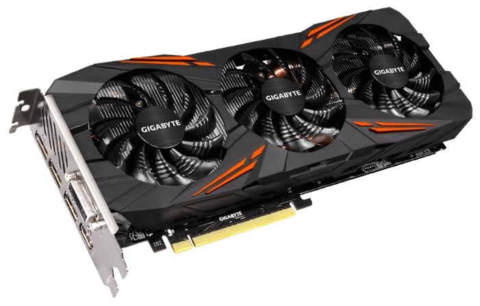 ���������� Gigabyte GeForce GTX 1080 1721Mhz PCI-E 3.0 8192Mb 10010Mhz 256 bit DVI HDMI HDCP GV-N1080G1 GAMING-8GD