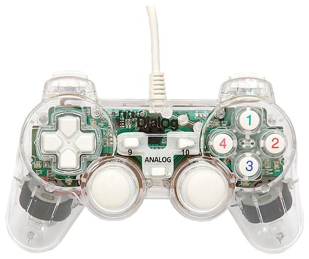 Dialog GP-A11EL - проводной геймпад для ПК; USB; кнопок 12; джойстиков 2; крестовина (D-pad) есть; виброотдача есть