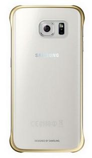 Чехол-накладка Samsung для Samsung Galaxy S6 Edge Plus Золотистый/Прозрачный