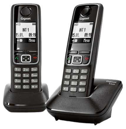 Радиотелефон DECT Gigaset A420 DUO Black L36852-H2402-S301