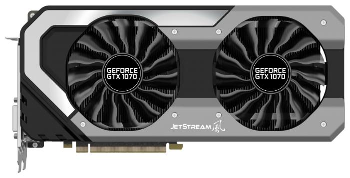 Palit GeForce GTX 1070 (8Gb GDDR5, DVI-D + HDMI + 3xDP) - NVIDIA GeForce GTX 1070, 16 нм, 1632 МГц, 8192 Мб GDDR5@8000 МГц 256 бит,