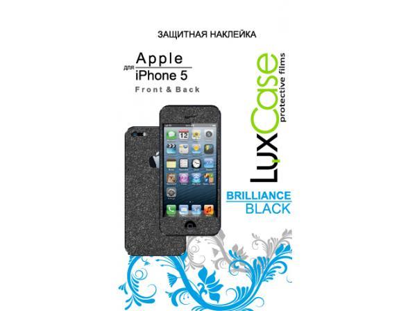 Защитная пленка LuxCase для Apple iPhone 5/5S F&B, Brilliance (Black) 80269