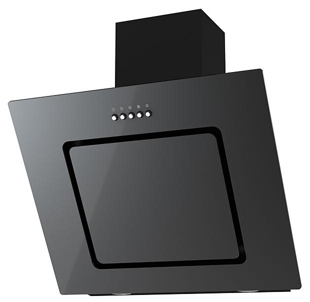 Вытяжка каминная Kronasteel Kirsa 600 black/black glass Kirsa 600 bl/blgl