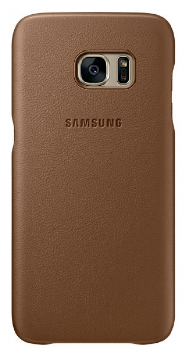 Чехол Samsung для Galaxy S7 Leather Cover (EF-VG930LDEGRU) brown
