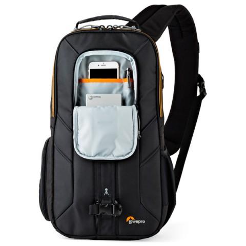 Сумка для фотокамеры Lowepro Slingshot Edge 250 AW Black - текстиль, ручка для переноски, плечевой ремень