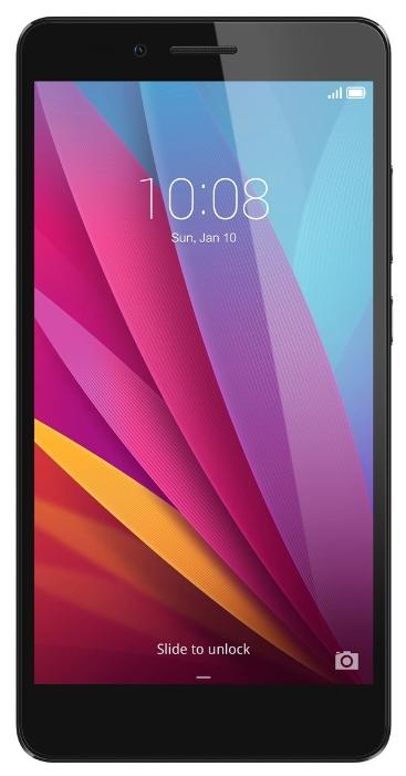 Huawei Honor 5X (KIW-L21), Grey - (; GSM 900/1800/1900, 3G, 4G LTE, LTE-A Cat. 4; SIM-карт 2 (micro-SIM + nano-SIM); Qualcomm Snapdragon 615 MSM8939; RAM 2 Гб; ROM 16 Гб; ; 13 млн пикс., светодиодная вспышка; есть, 5 млн пикс.; датчики - освещенности, приближения, считывание отпечатка пальца)