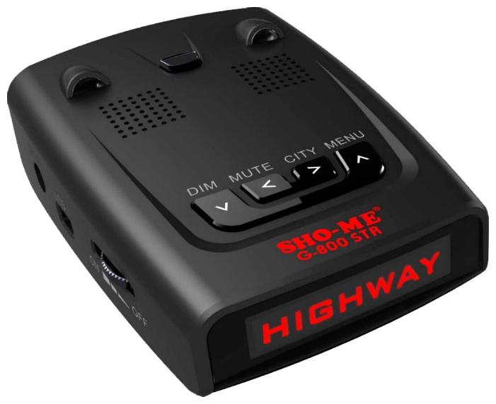 Sho-Me G-800 STR Red - (Ultra-K, POP, режим Город: есть, количество уровней - 2, режим Трасса: есть, отображение информации: ЖК-дисплей)