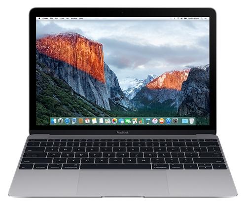 Apple MacBook 12 (MLH82RU/A), Space Gray - (Intel Core m5 1200 МГц. Экран 12 дюймов, 2304x1440, широкоформатный TFT IPS. ОЗУ 8 Гб LPDDR3 1866 МГц. Накопители SSD 512 Гб; DVD нет. GPU Intel HD Graphics 515. ОС MacOS X)