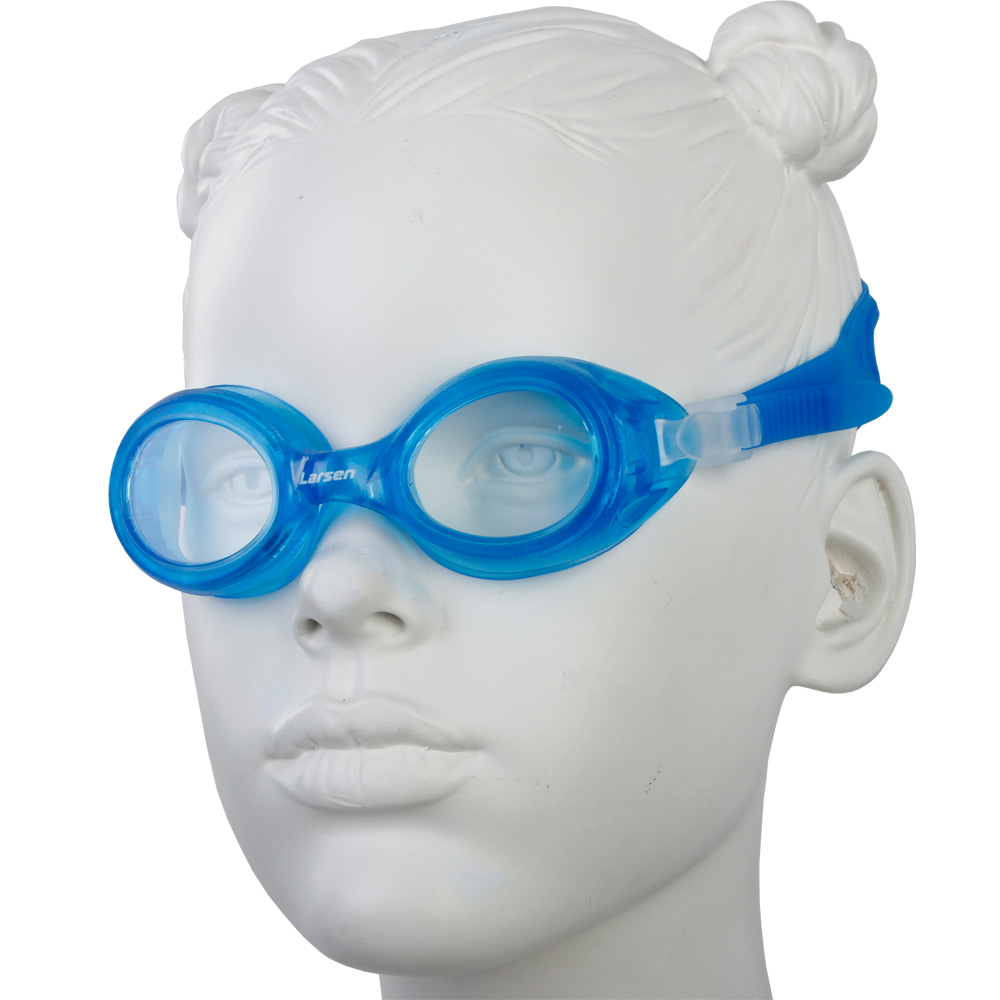 Очки плавательные Larsen DS7 голубой (пвх)