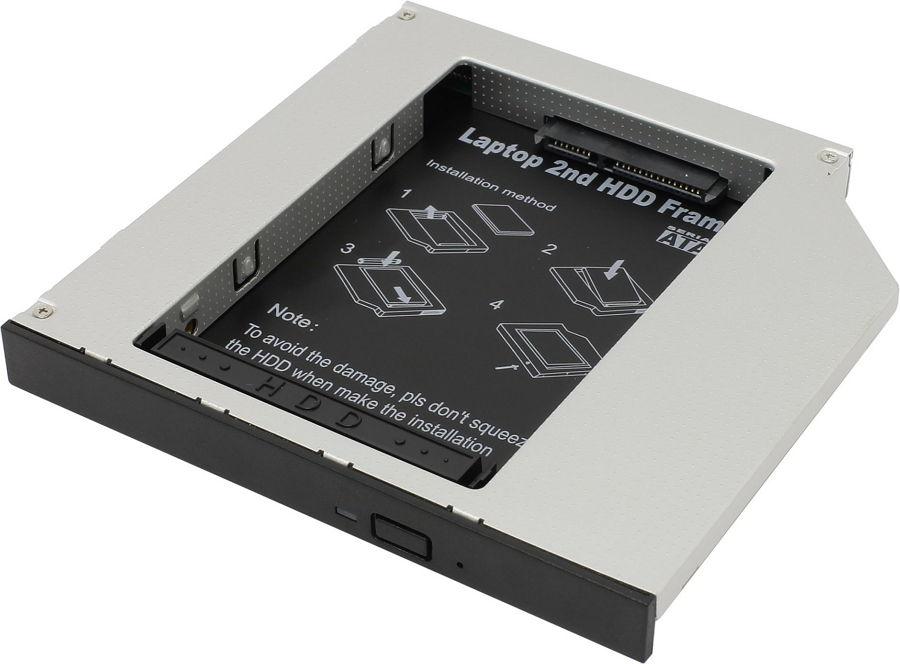 """Espada SS12 (HDD - SlimDVD) - mini SATA (7 + 6 pin); SlimDVD • Мест для накопителей - 1 (SATA, 2.5"""")"""