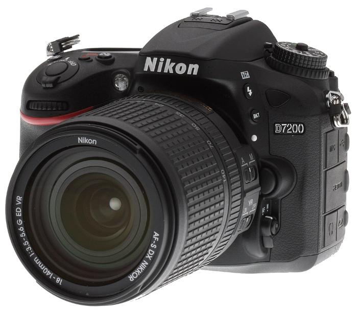 Nikon D7200 KIT (AF-S DX 18 - 140mm VR), black - (24.72 млн, 1920x1080, 7 кадр./сек, 1228800 точек, 3.20 дюйма)