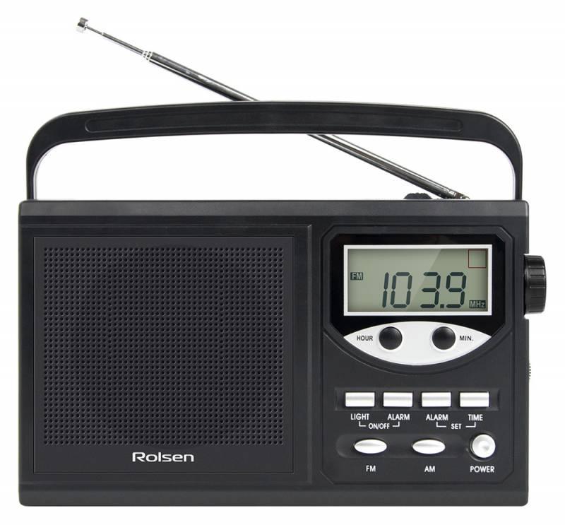 Радиобудильник Rolsen RBM-216, black 1-RLAM-RBM216BL