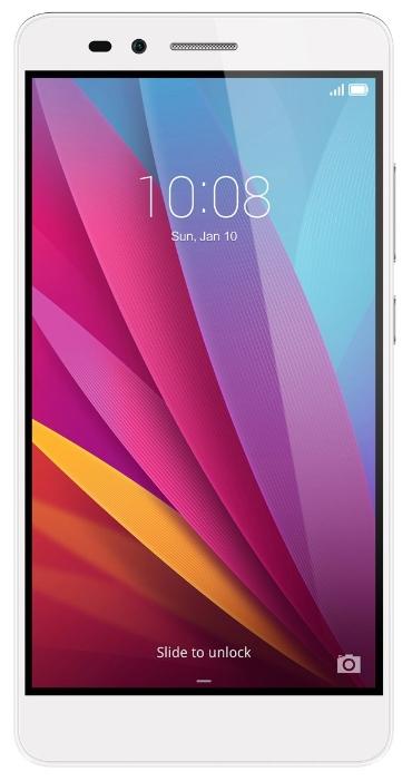 Huawei Honor 5X (KIW-L21), silver - (; GSM 900/1800/1900, 3G, 4G LTE, LTE-A Cat. 4; SIM-карт 2 (micro-SIM + nano-SIM); Qualcomm Snapdragon 615 MSM8939; RAM 2 Гб; ROM 16 Гб; ; 13 млн пикс., светодиодная вспышка; есть, 5 млн пикс.; датчики - освещенности, приближения, считывание отпечатка пальца)