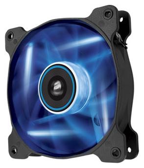 Corsair CO-9050031-WW SP120 LED Blue - 120x120x25 мм; вентиляторов 2; 1650 об/мин; 3-pin; 26.4 дБ; подсветка - синий; 57.24 CFM