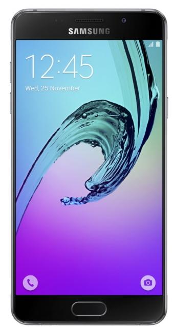 Samsung Galaxy A5 (2016), Black - (; GSM 900/1800/1900, 3G, 4G LTE, LTE-A Cat. 6; SIM-карт 2; 1600 МГц; RAM 2 Гб; ROM 16 Гб; 2900 мА?ч; 13 млн пикс., светодиодная вспышка; есть, 5 млн пикс.; датчики - освещенности, приближения, компас, считывание отпечатка пальца)