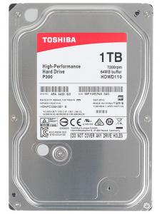 Жесткий диск Toshiba P300 HDWD110UZSVA, 1000 Gb HDD 1000 Гб, 3.5 дюймов (SATA-III) • для настольного ПК — купить за 2465 руб.